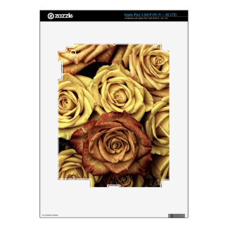 Beautiful Faded Roses Vintage Floral Bouquet Skins For iPad 3