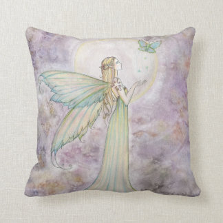 Beautiful Faerie and Butterfly Throw Pillow