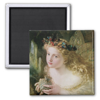 Beautiful Fairy Butterflies, Vintage Victorian Art 2 Inch Square Magnet