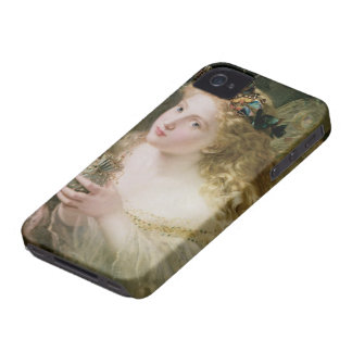 Beautiful Fairy Butterflies, Vintage Victorian Art iPhone 4 Case-Mate Case