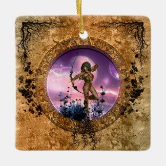 Beautiful fairy ceramic ornament
