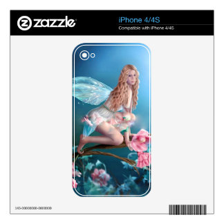 Beautiful Fairy Princess Decals For iPhone 4S