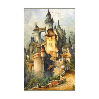 Beautiful Fairy Tale Castle by Hanns Bolz Wrapped Canvas Prints