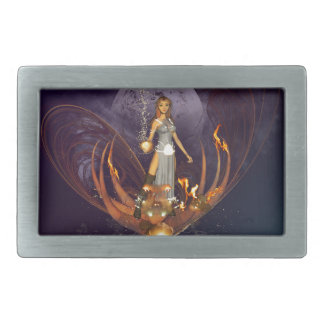 Beautiful fairy with glowing lights belt buckles