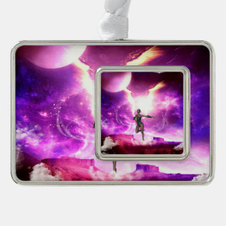 Beautiful fairy with water wings ornament