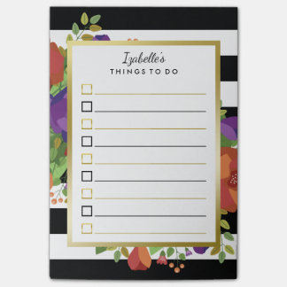 Beautiful Fall Bouquet Custom Name To Do List Post-it Notes