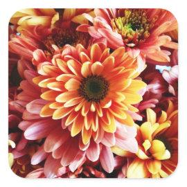 Beautiful Fall Floral Bouquet Design Gifts Sticker