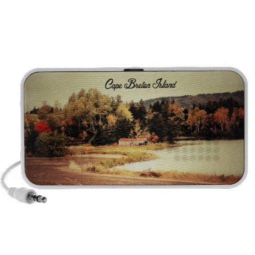 Beautiful Fall in Cape Breton Portable Speaker