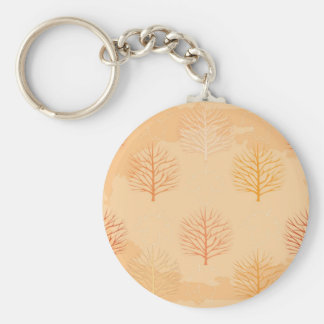 Beautiful fall leaves and trees pattern keychain