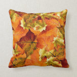 "Beautiful Fall Leaves Pillow! Throw Pillow<br><div class=""desc"">Beautiful Fall Leaves Pillow! By MammaBASIL.</div>"