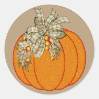 Beautiful Fall Season Pumpkin Design 2 Stickers