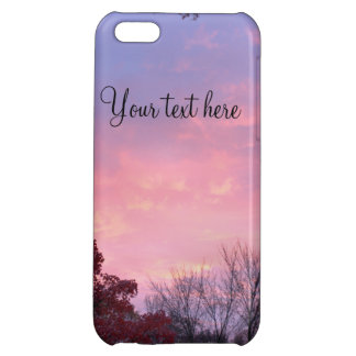 Beautiful Fall Sunset over Trees iPhone 5C Cover