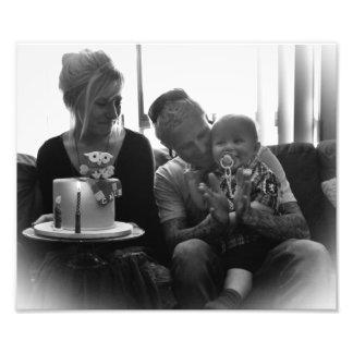 Beautiful Family B W Photo