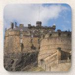 Beautiful famous giant Edinburgh Castle in Beverage Coaster