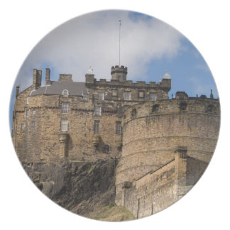 Beautiful famous giant Edinburgh Castle in Dinner Plate