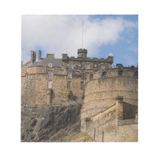 Beautiful famous giant Edinburgh Castle in Notepad