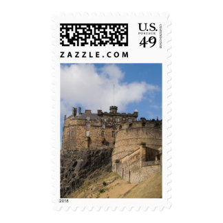 Beautiful famous giant Edinburgh Castle in Stamps