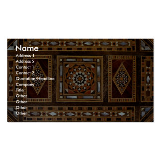 Beautiful Famous mother-of-pearl inlay work Damas Business Card Templates