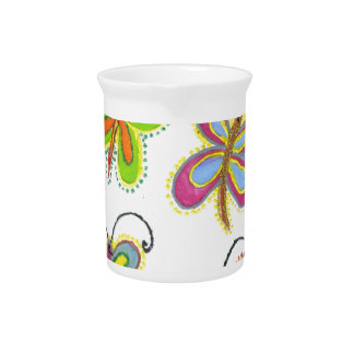 Beautiful Fantastic Feminine Girly Butterfly Pitcher