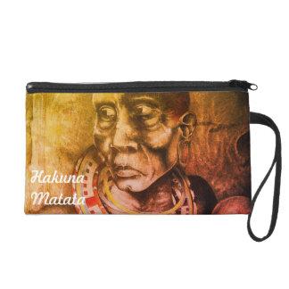 Beautiful Fantastic Maasai Hakuna Matata designs Wristlet Purse