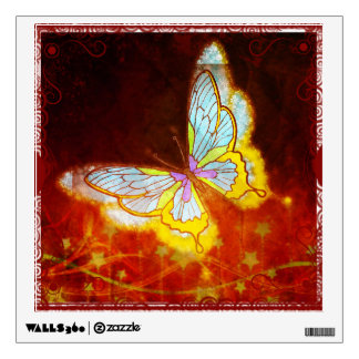 Beautiful Fantasy Butterfly Fireworks Collage Wall Sticker