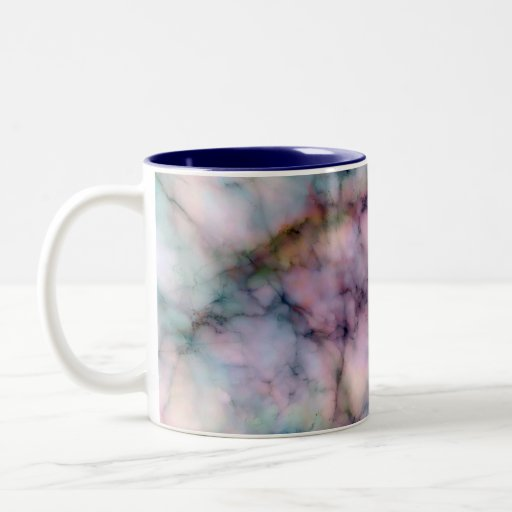 Beautiful Fantasy Colored Marble Abstract Designs Two-Tone Coffee Mug