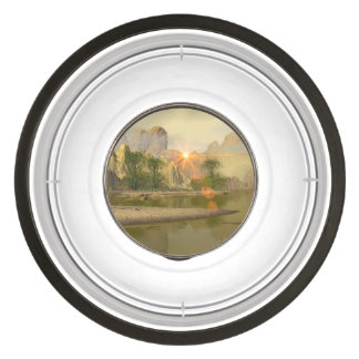 Beautiful fantasy landscape pet bowl