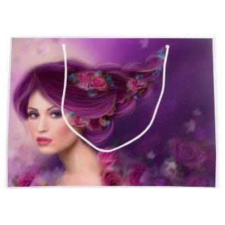 beautiful Fantasy woman fairy Large Gift Bag