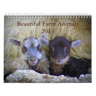 Beautiful Farm Animals Calendar