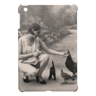 Beautiful Farm Girl Vintage Photograph iPad Mini Cases