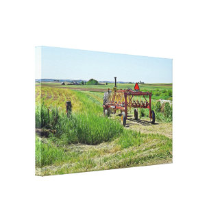 Beautiful Farming Landscape and Tractor Wall Art