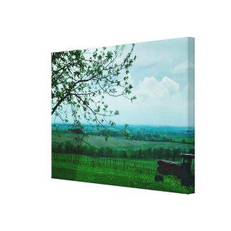 Beautiful Farming Landscape Photography Canvas