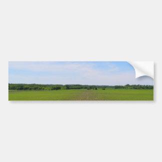 Beautiful farmland blue skies crops in field photo bumper sticker