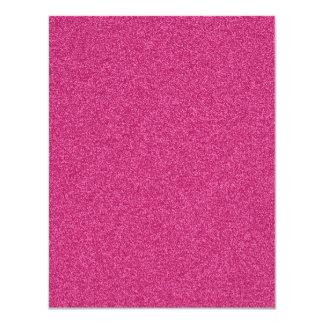 Beautiful fashionable girly hot pink glitter custom invites