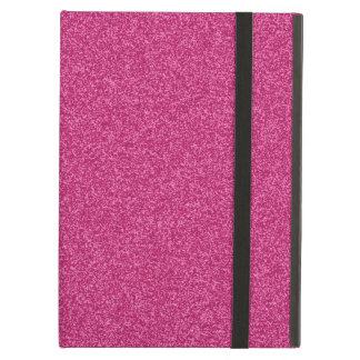 Beautiful fashionable girly hot pink glitter iPad folio cases