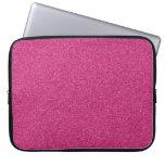 Beautiful fashionable girly hot pink glitter laptop computer sleeve
