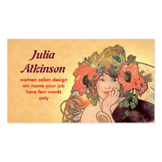 beautiful fashionable lady face business card