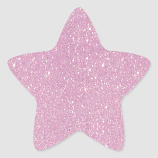 Beautiful fashionable soft purple glitter shinning star sticker