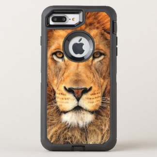 Beautiful Faux Acrylic Painting Of A Lion OtterBox Defender iPhone 7 Plus Case