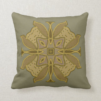 Beautiful Faux Beaded Patchwork Motifs Throw Pillow