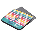 Beautiful faux glitter nautical anchor infinity laptop sleeves