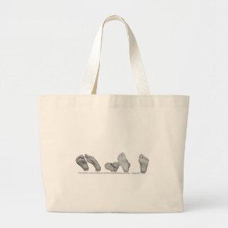 Beautiful Feet Jumbo Tote Bag