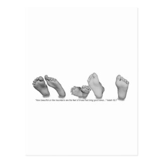 Beautiful Feet Postcard