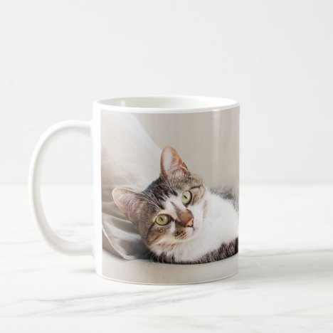 Beautiful Feline Friend Cat Lovers' Photo Mug