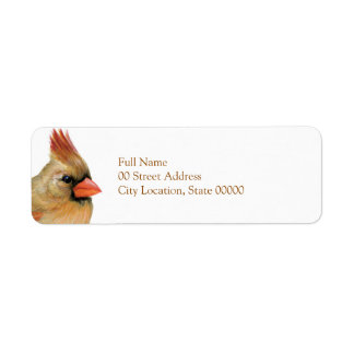 Beautiful Female Cardinal Label