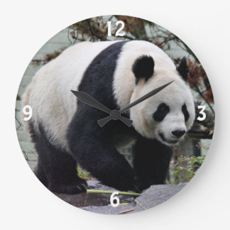Beautiful Female Giant Panda Large Clock