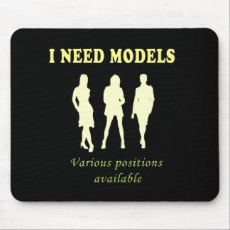 Beautiful female models mouse pad