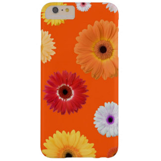 Beautiful Feminine Colorful Daisy on Bright Orange Barely There iPhone 6 Plus Case