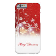 """Beautiful festive """"Merry Christmas"""" illustration Barely There iPhone 6 Case"""