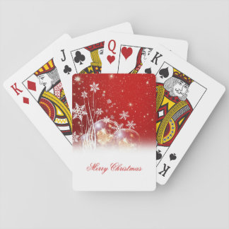 """Beautiful festive """"Merry Christmas"""" illustration Playing Cards"""